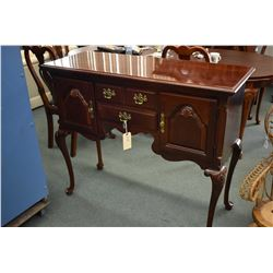 Antique style modern solid cherry server with two doors and two drawers including cutlery drawer, st