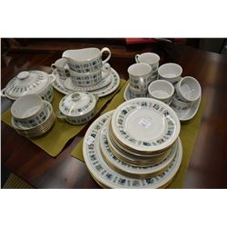 """Royal Doulton """"Tapestry"""" fine china dinnerware including settings for six of dinner plates, side pla"""