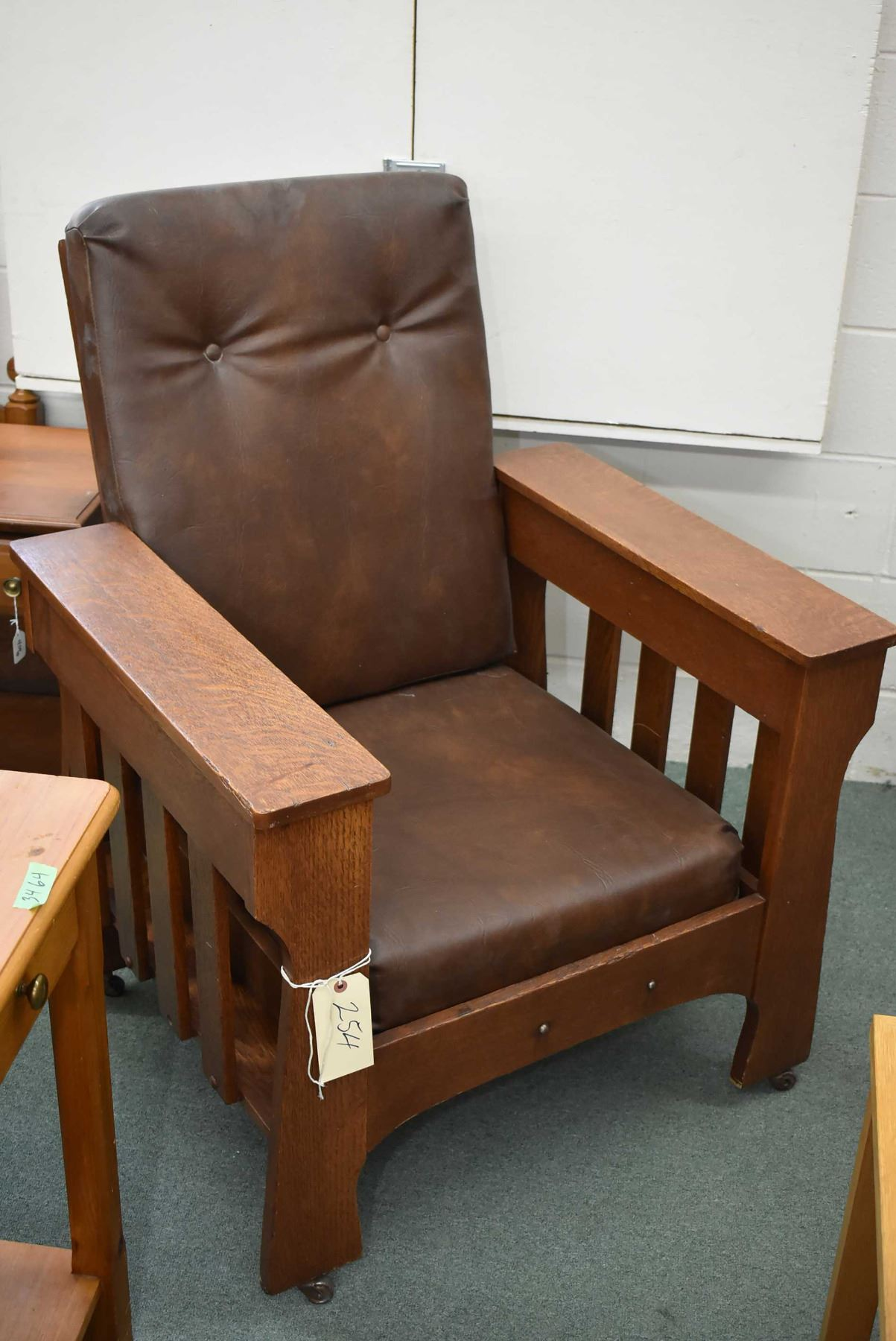 Groovy Antique Quarter Cut Oak Mission Style Reclining Morris Chair Alphanode Cool Chair Designs And Ideas Alphanodeonline