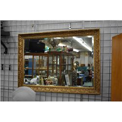"""Gilt framed bevelled wall mirror, overall dimensions 29"""" X 41"""""""