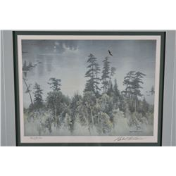 """Two framed limited edition prints including """"Peregrine Falcon"""" pencil signed by artist Robert Batema"""