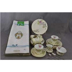 """Paragon """"Princess Margaret Rose"""" china tea set including six teacups and saucer, six sandwich plates"""