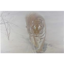 """Framed limited edition print titled """"Out of the mist"""" pencil signed by artist Michael Pape, 447/2008"""