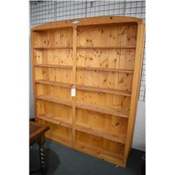 """Large modern country pine style open shelving unit, 83"""" in height"""