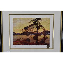 """Two framed prints including limited edition print """"The Jack Pine"""" by Tom Thomson 13/395 and """"End of"""