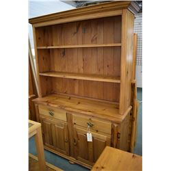 Country style pine chest on chest Welsh dresser made in Canada by House of Brougham