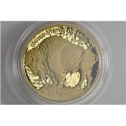"2006 United States Mint ""Buffalo gold bullion"" $50 .9999 fine gold bullion coin in presentation case"
