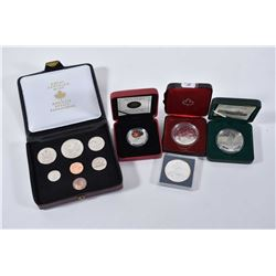 Selection of mint cased Canadian collector coins including 1874-1974 Winnipeg decimal set, 1998 RCMP