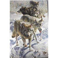 """Framed wildlife print """"Miles To Go"""" by artist Carl Brenders"""