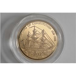 "New Zealand $250 ""Drafting of the Constitution 1838-1988"" Pitcairn Island .22ct gold coin"
