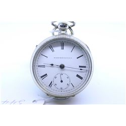 Elgin size 18, 7 jewel pocket watch. Grade 97, model 1. Serial # 1847966 dates to 1885. Gilt split p