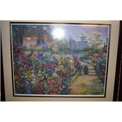 Framed limited edition print titled  On Crystal Pond  pencil signed by artist Henry Pilsson, 213/395