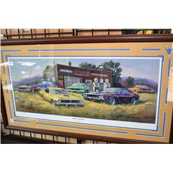 "Framed artist signed limited edition print titled ""Shaker in the Weeds' pencil signed by artist Dale"