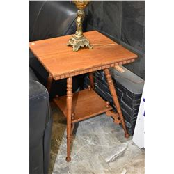 Two tier Canadiana oak occasional table