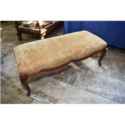 Mid 20th century upholstered bed end/fireplace bench
