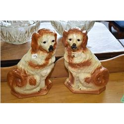 "Pair of Staffordshire dog 13"" in height"