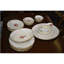 "Selection of Royal Crown Derby ""Ashby"" including seven dinner plates, eight side plates, seven bread"