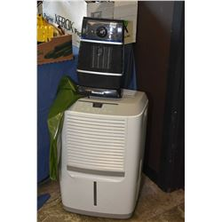 Small Honeywell space heater and a Frigidaire dehumidifier
