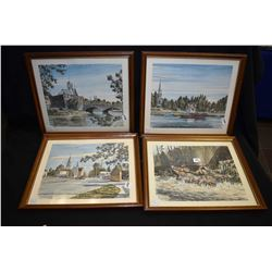 "Four framed prints including ""The Quyon Ferry Crossing Ottawa"", ""Where the Muskrat River Meets Ottaw"