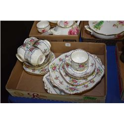 Collection of Royal Albert china including sandwich plate, square cake plate, six side plates and fi