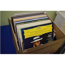 Selection of vinyl LPs including Andre Gagnon, Paul Anka, Saturday Night Fever, Jesus Christ Superst