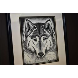 """Framed print titled """"Timber Song"""" pencil signed by artist Tenny Whitfield"""
