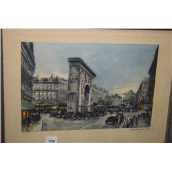 Vintage framed street scene