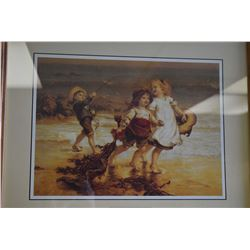 "Oak framed print ""Sea Horses"""