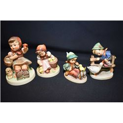 Four Hummel/Goebel figurines including Barnyard Hero, Chick Girl, etc