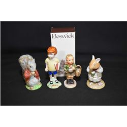 Selection of figurines including two Hummel/Goebel figurines including Culprits plus Royal Doulton M