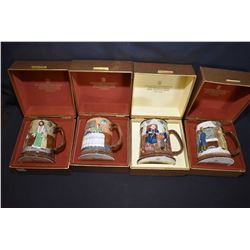 Four Beswick Collectors International tankards in original boxes