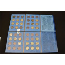 Two half dollar collector boards. One containing 23 Canadian silver half dollars ranging 1937-1964 a