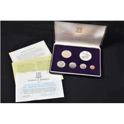 Cased Franklin Mint collector coin set of 1973 First Official Coinage of the British Virgin Islands