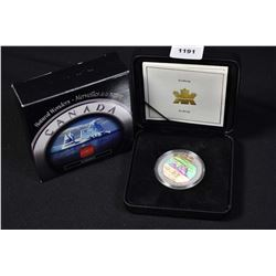 Cased Canadian collector coin minted in sterling silver Canada Iceberg $20