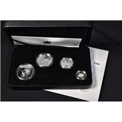 Two Royal Canadian Mint cased collector coins including four piece The Arctic Fox set in sterling si
