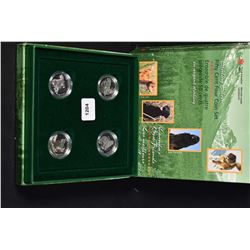 Cased Canadian Mint collector sterling silver coin set Canada's Best Friends 50 cent pieces