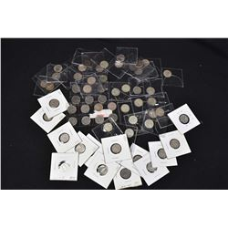 Large selection of Canadian dimes many in the early 1960s