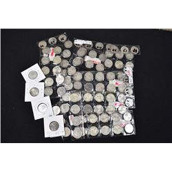 Large selection of Canadian quarters ranging in dates late 50s to 1968