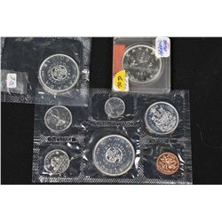 Selection of mint sealed Canadian coins including 1964 decimal set, 1964 silver dollar plus a circul