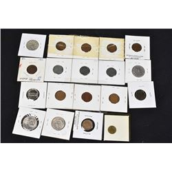 Selection of American collector coins including 1979 Susan B Anthony dollar, pennies, quarters, etc