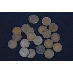 Twenty two Canadian large pennies appear to all be post 1900