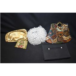 Selection of vintage purses including beaded, clutches etc.