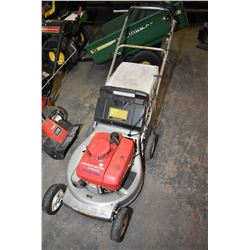 Honda HRA 215 self drive rear bag lawn mover
