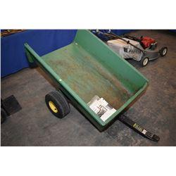 John Deere brand pull behind model 110 utility cart