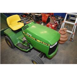 John Deere LX178 garden tractor with 15 HP OHV liquid cooled engine, seems to run fine, needs front