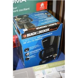 New in box Black & Decker coffee maker, model BMC 1410BC