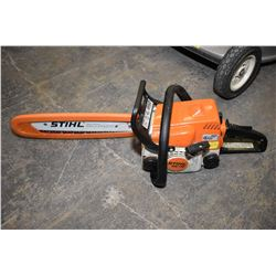 Stihl MS170 chainsaw in carrying/ storage case