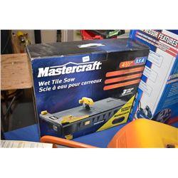 "New in box Mastercraft 4 1/2"" 3.5 amp wet tile saw"
