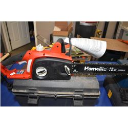 "Homelite 16"" electric chain saw"