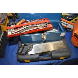 Mastercraft wrench and socket set in fitted box, small metal tool box with assorted hand tools and a